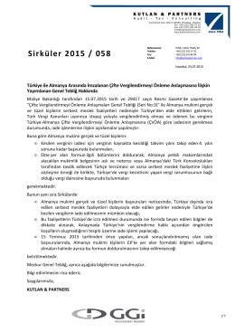 Türkiye ile Almanya Arasında İmzalanan Çifte