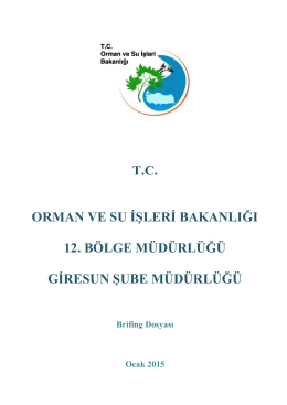 T.C. ORMAN VE SU İŞLERİ BAKANLIĞI 12. BÖLGE MÜDÜRLÜĞÜ
