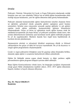 2013-2014_egıtım_programı - Bakırköy ve Sinir Hastalıkları Eğitim