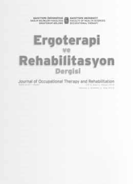 Cilt 3, Sayı 2, Mayıs 2015 - Hacettepe Üniversitesi Ergoterapi Ve
