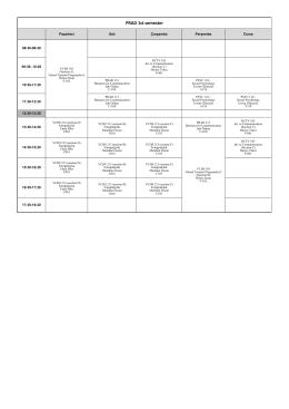 Güz Yarıyılı Ders Programı (2015