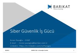 Siber Güvenlik İş Gücü - Barikat 2016-I