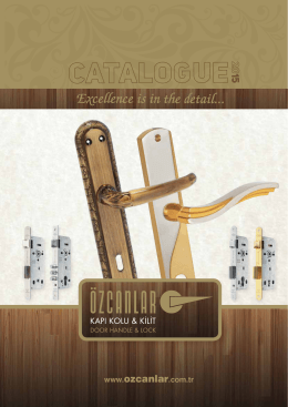 Ozcanlar Door Handles Catalogue 2015 (English)
