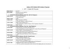 Program  - Ankara YEF Grubu
