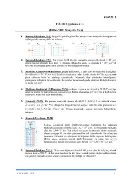 05.05.2015 FİZ-102 Uygulama-VIII (Bölüm