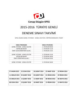 2015-2016 türkiye geneli deneme sınavı takvimi