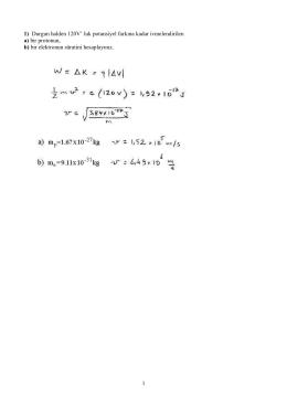 elektrik potansiyel örnek sorular
