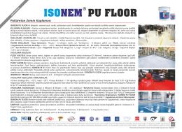 pu floor ısonem - ISONEM Yapı Kimyasalları