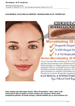 Microblading - 3D Kıl Tekniği Kaş