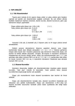 1 1. YAPI ANALİZİ 1.1. Yük Düzenlemeleri Taşıma gücü metodu ile