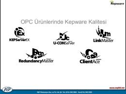 OPC Ürünlerinde Kepware Kalitesi