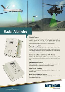 Radar Altimetre Ürün Föyü için TIKLAYINIZ