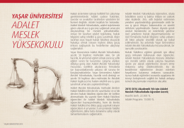 ADALET MESLEK YÜKSEKOKULU - Yaşar Üniversitesi Aday Bilgi