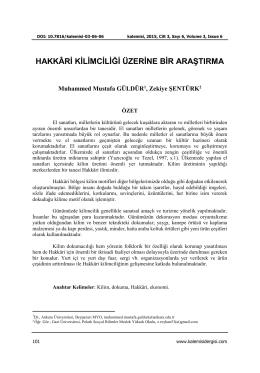 Tam Metin - Kalemişi - Geleneksel Türk Sanatları Dergisi