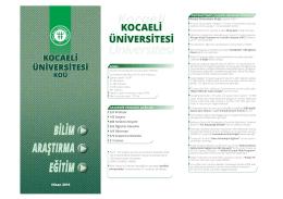 Kısa Bilgiler - Kocaeli Üniversitesi