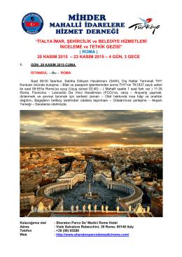 ROMA - MİHDER
