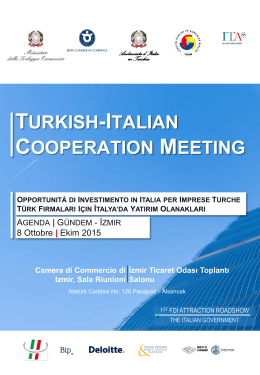 TURKISH-ITALIAN COOPERATION MEETING