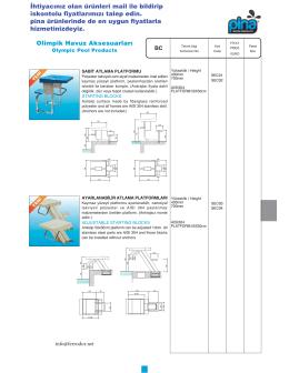 Olimpik Havuz Aksesuarları İhtiyacınız olan ürünleri mail ile bildirip
