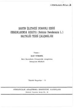 021 - İç Anadolu Ormancılık Araştırma Enstitüsü Müdürlüğü