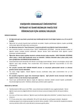 eskişehir osmangazi üniversitesi iktisadi ve idari bilimler fakültesi