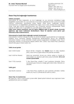 Vorbereitung Klean-Prep türkisch