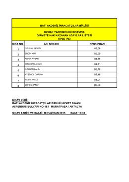 baib kpss p03 sınava girecek aday listesi web