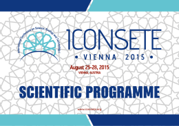 vıenna 2 0 1 5 - The International Conference On Science, Ecology