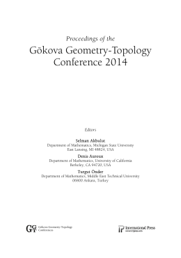 Gökova Geometry-Topology Conference 2014