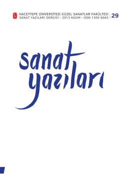 sanat yazıları / 29. sayı / 2013 kasım