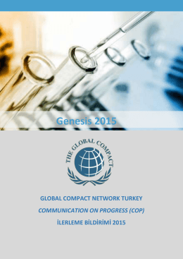 Genesis 2015 - United Nations Global Compact