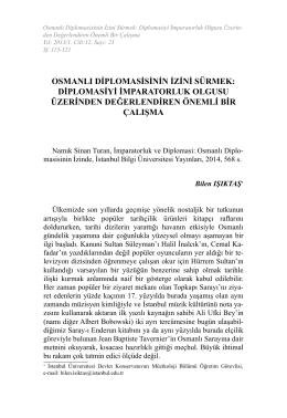 osmanlı diplomasisinin izini sürmek