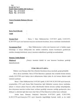2577 sayılı İdari Yargılama Usulü Kanunu`nun 20/A