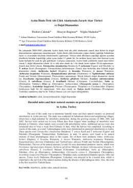 İ. Çakmak, H. Başpınar, N. Madanlar