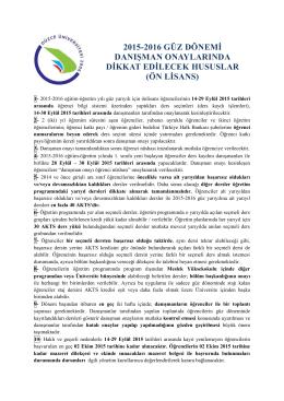 ön lisans - Düzce Üniversitesi Öğrenci İşleri Daire Başkanlığı