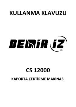 CS 12000 - Kullanma Kılavuzu