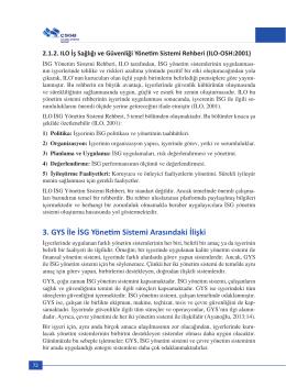 3. GYS İle İSG Yönetim Sistemi Arasındaki İlişki