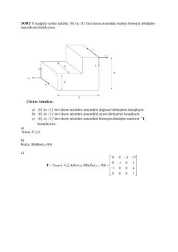 SORU 1 Aşağıda verilen şekilde {0} ile {1}`inci eksen arasındaki