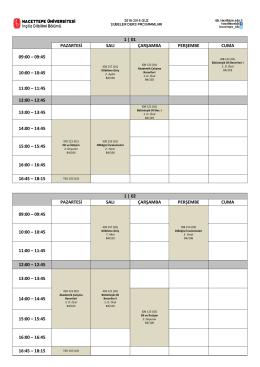 1 | 01 pazartesi salı çarşamba perşembe cuma 09:00 – 09:45 10:00