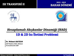 Sunum 2 - Mehmet Akif EZAN, PhD