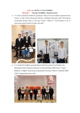 • 9-11 Eylül 2015 tarihleri arasında Dokuz Eylül Üniversitesi Tıp