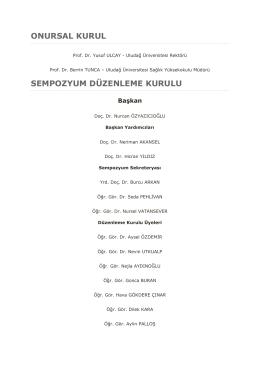 Bilimsel kurul sıralamasını PDF şeklinde bu link`e tıklayarak indire