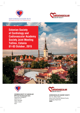 Estonian Society of Cardiology and Cadiovascular Academy Society