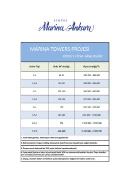 marına towers projesi