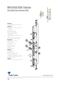 MPL415G Kilit Takımı - Mul-T-lock