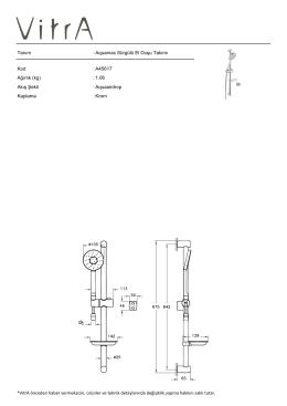 Tanım : Aquamax Sürgülü El Duşu Takımı Kod : A45617