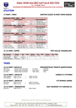 23 – 29 mart 2015