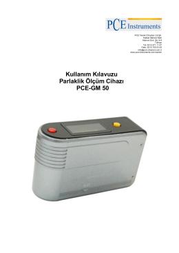 Kullanım Kılavuzu Parlaklik Ölçüm Cihazı PCE