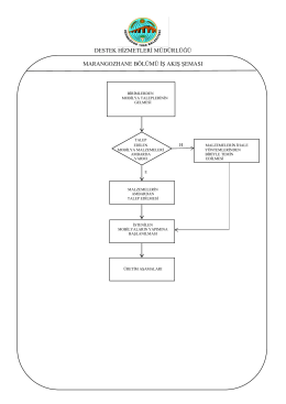 kademe kullanımı iş akış şeması