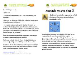 Akdeniz Meyve Sineği Mücadelesi Hakkında Bilgi Broşürü