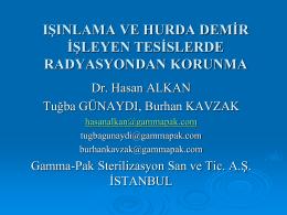 Hasan Alkan - 1.Ulusal Radyasyondan Korunma Kongresi